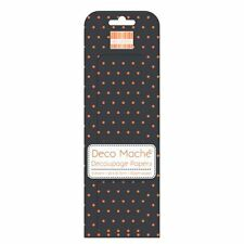 Halloween Polka Deco Mache x 3 Tissue Patch Paper Sheets First Edition Craft