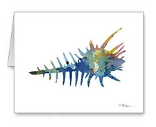 Sea Shell Note Cards With Envelopes