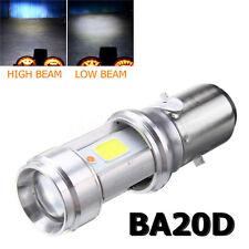 BA20D LED COB Hi/Lo Motorcycle Headlight Fog Lamp Blub Headlamp DC9-18V 3000LM
