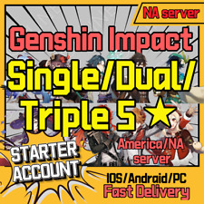 [NA]✨ Genshin Impact Starter Account ✨Diluc Ganyu Xiao Keqing HuTao Zhongli Mona