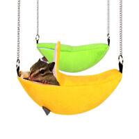 Banana Hamster Ferret Rat Squirrel Bed House Hammock Small Hanging Cage Nest Toy