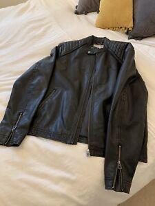 Jack And Jones Faux Large Leather Bomber Jacket