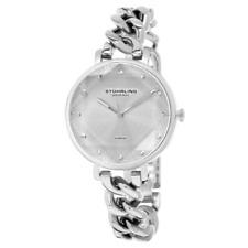 Stuhrling Original 3937 1 Quartz Crystal Accented Chain Bracelet Womens Watch
