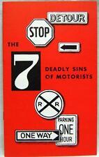 Vintage Safe Automobile Driving Informatonal Brochure 1956 Enterprise Publisher