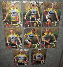 Lot van 8 oude postkaarten uit de 90s - Wielerploeg Lotto - nieuwstaat