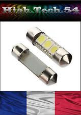 2 AMPOULES NAVETTE  SMD C5W 37 mm à 3  LED SMD.