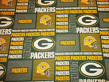"GREENBAY PACKERS  58"" WIDE  1/2  YARD  100%  COTTON  BRAND NEW DESIGN GO PACKERS"