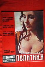 ELIZABETH TAYLOR ON COVER 1967 RARE EXYU MAGAZINE