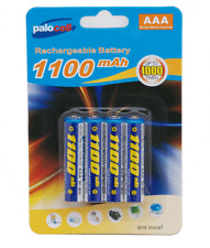 New 4 x 1100Mah NIMH AAA Palocell Rechargeable rechargable batteries battery