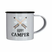 Happy Camper Mug Galvanised Steel / Powder Coated 350ml