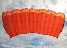 MicroRaven 150 sq ft skydiving parachute reserve canopy - orange excellent shape