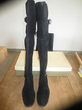 Minka design cuissarde cuir velour noir NEUVE Valeur 189E Pointures 36,37,38,39