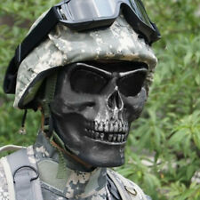 Black Skull Skeleton Full Face Mask Tactical Paintball Airsoft Protect Safety CS