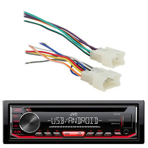 JVC USB For iPod CD AM FM CD Receiver,Metra 70-1761 for Toyota 87-UP Car Harness