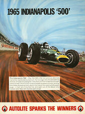 Classic Lotus Type 38 Jim Clark Indianapolis poster. Reproduced from 1965 origin