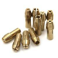 10x BRASS DRILL 0.5-3.2mm COLLET BIT SET FOR DREMEL ROTARY TOOL 4.8mm CHUCKS UK