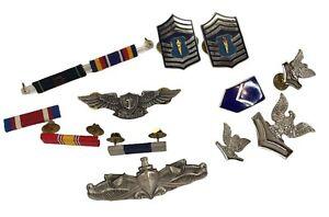 Lot of Military Insignia Pins ribbons