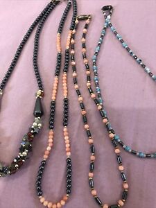 Mixed Angel Coral Costume Jewellery Job Lot Vintage Various Necklaces Precious