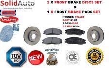 FOR HYUNDAI TRAJET 2.0 2.7 01-07 FRONT BRAKE DISCS AND FRONT BRAKE PADS SET