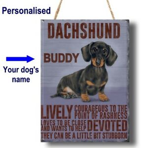 PERSONALISED DACHSHUND Dog Breed Plaque Sign gift ANY NAME vintage wall door