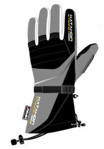 Katahdin Frostfire Gray Insulated Cold Weather ATV Snow Sports Snowmobile Glove
