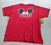 Disney Dad Mickey Mouse Shirt NWT Men's XL Red Cotton