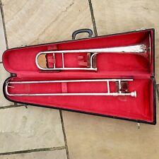 More details for antique trumbone in carry case ~ trombone ~ buescher elkhart-ind usa ~ us navy