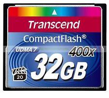 Transcend CompactFlash 32GB 32G 400X 90MB/SEC Read 40MB/SEC Write UDMA7 CF Card