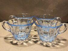 """*Vintage 4pc Set Blue Punch Bowl 3"""" Cups"""
