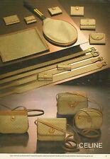Publicité 1981 Sacs à main CELINE maroquinerie ceinture porte-document cuir