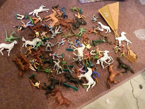 Timpo Britains Marx job lot cowboys Indians horse others