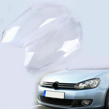 Fit VW Golf 6 MK6 5K Headlight Head Lamp Lens Cover Case Plastic Left & Right