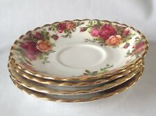 Royal Albert Old Country Roses Saucers x 4