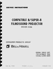 Bell & Howell 458, 458A, 458B Projector Service & Repair Manual Reprint