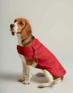 Joules Red Water Resistant Dog Coat Raincoat Jacket Small Medium Large
