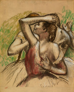 Group of Dancers by Edgar Degas 60cm x 48cm Art Paper Print