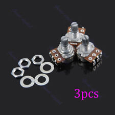 3 Pcs Guitar Potentiometer B250k Split Shaft Pots Audio Tone Switch Control New