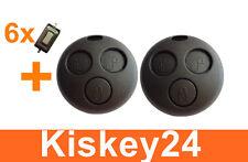 2x Schlüssel Ersatz Gehäuse + 6x MICRO TASTER für Smart ForTwo-MC01 450