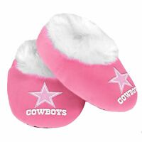 Dallas Cowboys Pink - Infant Newborn Girl Baby Booties Slippers NEW Shower Gift