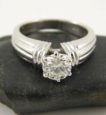 Reinheit VVS Echte Diamanten-Ringe aus Weißgold mit Brilliantschliff