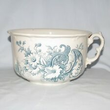 GENUINE ANTIQUE BLUE AND WHITE CHAMBER POTTY CHAMBER POT