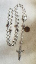 Vintage 1956 Sterling Silver Crystal Creed Rosary
