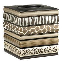 Popular Bath Safari Stripes Bath Collection - Bathroom Tissue Box Cover