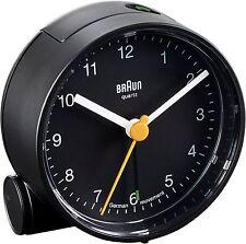 BRAUN Quarzwecker alarm clock leise BNC001 schwarz Wecker Crescendo NEU 66003