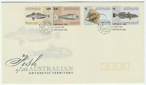 2006 FIRST DAY COVER FDC 'FISH OF THE AUSTRALIAN ANTARCTIC TERRITORY' - MINT