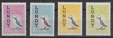 Lundy Island Local Post Labbe #146-149 1961 Europa Puffin Set, Mnh