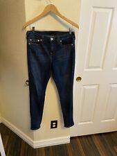 True Religion Super Skinny fit High Rise Dark Skinny Jeans Autumn nights Size 31