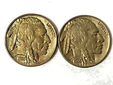 1935 Buffalo nickels 2 high grade coins for the price of one !