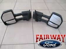15 thru 19 F-150 OEM Genuine Ford Power Trailer Tow Mirrors PAIR for XL & XLT