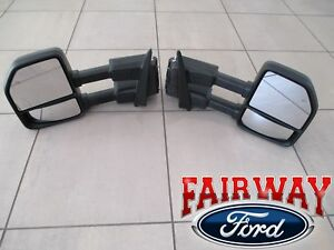 15 thru 20 F-150 OEM Genuine Ford Power Trailer Tow Mirrors PAIR for XL & XLT